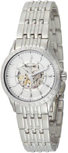 Bulova Women's 96R139 Mechanical hand wind Diamond Case Mother-Of-Pearl Dial Watch