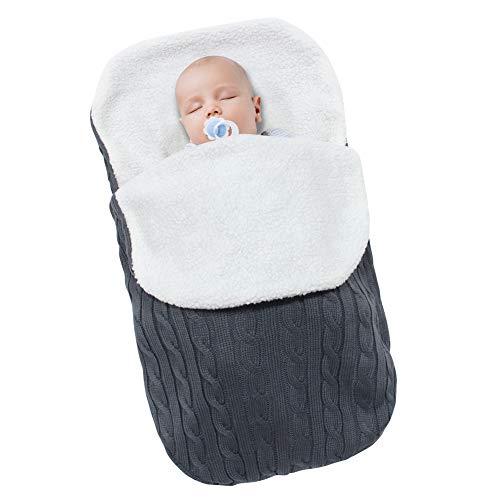 Fleece Stroller - MHJY Newborn Baby Swaddle Blanket Wrap,Knit Warm Fleece Blanket Swaddle Sleeping Bag Sleep Sack Stroller Wrap for 0-12 Month Baby Boys Girls