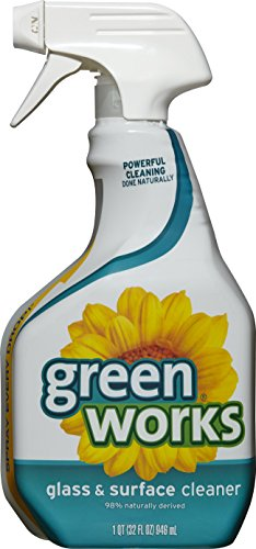 Green Works Glass & Surface Cleaner, Cleaning Spray, Original, 32 Ounces (Pack of - Glass Green Cut