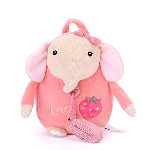 Me Too Kids Leash Bags Toddler Backpack with Safety Harness Playful Preschool Kids Lunch Bag for Little Children(12-36M) Pink Elephant ...
