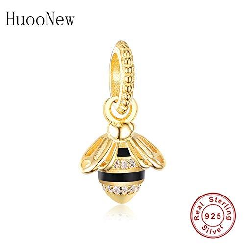 Pukido Red Enamel Winnie Hug Bear Beads Necklace Pendant Dangle Fit Original Pandora Charms Bracelet 925 Sterling Silver Jewelry Bangle - (Color: HU0101)