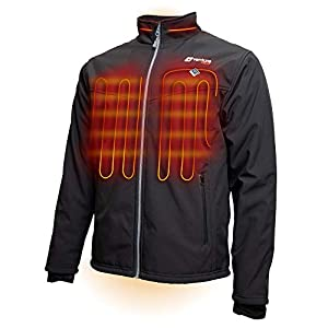 Venture Heat Men's Softshell Heated Jacket with Battery – Windproof Electric Insulated Coat, Outlast 2.0