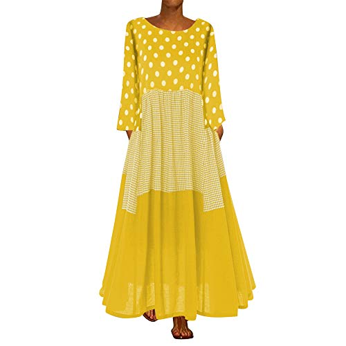 Aniywn Oversized Dress Women's Sleeveless Casual Print Floral Loose Party Long Dress Plus Size