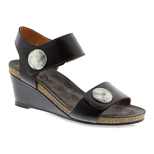 Women's Sandal Wedge Carousel Black Taos Leather 6wxqdYfZ6R