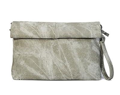 LIZHIGU Women's Leather Crossbody Bag Zipper Clutch Purse Fashion Shoulder Bag for Teen Girls
