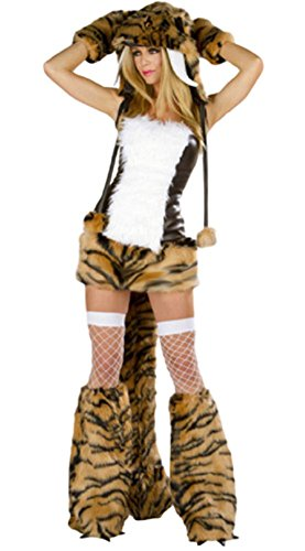 Cat In The Hat Sexy Costumes ([O-Tokyo] Adult Sexy Costumes of Animal for Woman / Tiger Cosplay with Hat & Tail (Tiger))