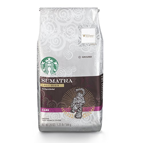 Sumatra Blend Coffee - Starbucks Sumatra Dark Roast Ground Coffee, 20-Ounce Bag