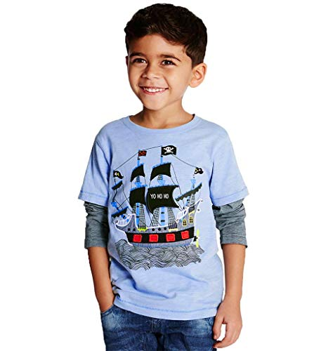 Top pirates shirt for boys