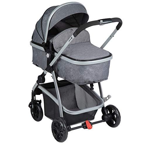 Safety 1st Hello 2 en 1 Silla de Paseo Convertible en Capazo, Silla reversible y reclinable, plegable compacto, Carrito bebé 0-3,5 años, burbuja de lluvia, color Black Chic a buen precio