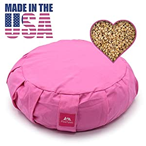 PineTales, Premium Super Lightweight Millet Yoga/Meditation Cushion, Made in Phoenix, AZ, Medium Size (15″x 6″)