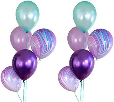 Amazon.com: Ramo de globos para fiesta de sirena – 10 ct ...