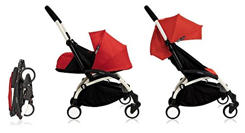 Babyzen 2018 YoYo+ Stroller Bundle (Yoyo+ Stroller, Canopy & Newborn Pack) White/Red For Sale