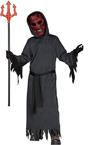 Boys Light Up Burning Devil Satan Lucifer Scary Evil Creepy Halloween Fancy Dress Costume Outfit 7-12 Years (7-9 Years)