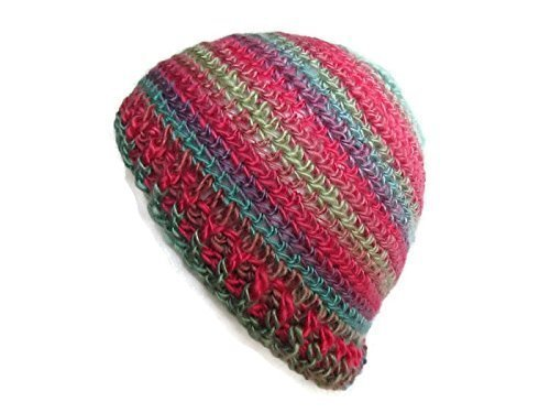 Amazoncom Crochet Messy Bun Hat Pink Blue Ponytail Hat Colorful