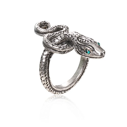 XCOSER Covetous Silver Serpent Ring Set Collection Costume Accessories for Womens Gift -