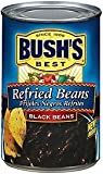 Bush's Best, Refried Beans, Black Bean, 16oz Can (Pack of 6) by Bush's