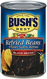 Bush's Best, Refried Beans, Black Bean, 16oz Can (Pack of 6) by Bush's by Bush's
