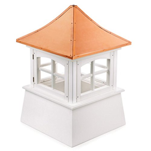 110'' Handcrafted ''Windsor'' Copper and Vinyl Roof Cupola by CC Outdoor Living
