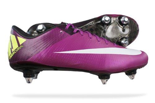best loved 40ffb 7c2d6 Nike Mercurial Vapor Superfly III SG hommes chaussures de football Cleats - rouge  Plum - SIZE EU 44  Amazon.fr  Chaussures et Sacs