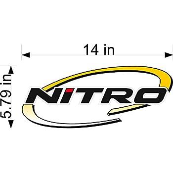 Amazoncom NITRO Boats Logo Decal PAIR X Sports  Outdoors - Nitro bass boat decals