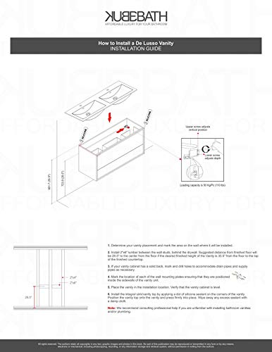 "De Lusso 30"" Nature Wood Wall Mount Modern Bathroom Vanity -  - bathroom-vanities, bathroom-fixtures-hardware, bathroom - 41WfRgey3rL -"