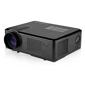 Excelvan CL740D - LCD Proyector LED HD (2400 Lúmenes, 800x480, 1080P, 16.7 Millones de Colores, 16:9, HDMI VGA USB AV DTV DVB-T Blu-ray, para Casa ...