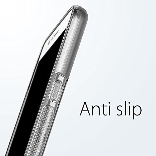 Funda HTC U11, SLEO Slim Fit TPU Carcasa de Parachoques Case Traslúcido Suave con Absorción de Impactos y Resistente a los Arañazos para HTC U11 - Negro Gris