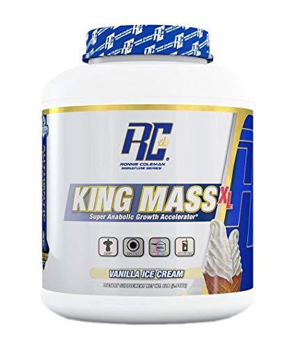Ronnie Coleman Signature Series King Mass-XL Vanilla ice Cream Super anabolic Growth Accelerator 6 Pound, 6 Pound