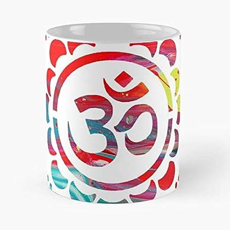 Amazon.com: Om Shiv Shiva Yoga - Taza de café de cerámica de ...