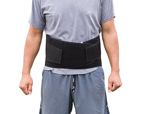 Pro Ice LARGE Back Ice Wrap Lumbar Support for Lower Back Pain Relief, Pinched Nerves, Sciatica - Waist Size 34