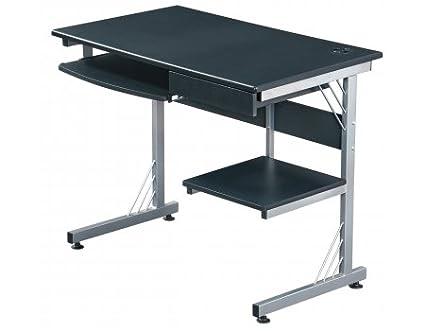 hjh OFFICE 673995 WORK Computer-/ Schreibtisch mit USB-Hub, graphit / silber
