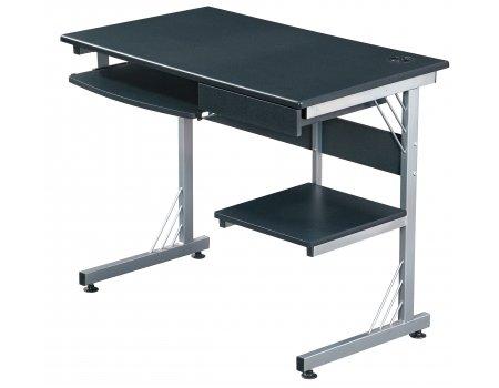 Hjh OFFICE 673995 WORK  Computer-  Schreibtisch mit USB-Hub, graphit   silber