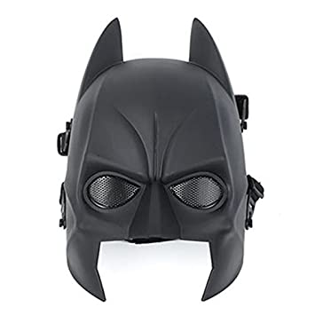 AIRSOFT BATMAN MALLA NEGRA MÁSCARA DE CASCO DE DISFRACES