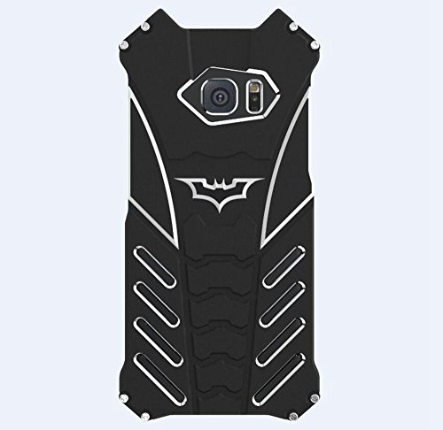 Shockproof Anti-drop Aerospace Aluminum Metal Batman Phone Protect Shell Military Grade Drop Tested Iron Man Bumper Back Cover for Samsung Galaxy S6 at Gotham City Store