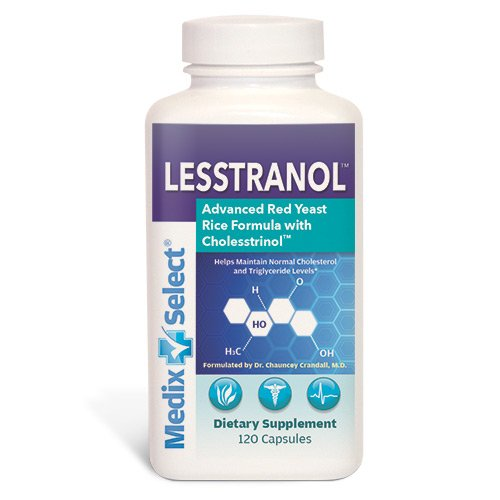 Lesstranol Advanced Red Yeast Rice Formula 30 Day Supply