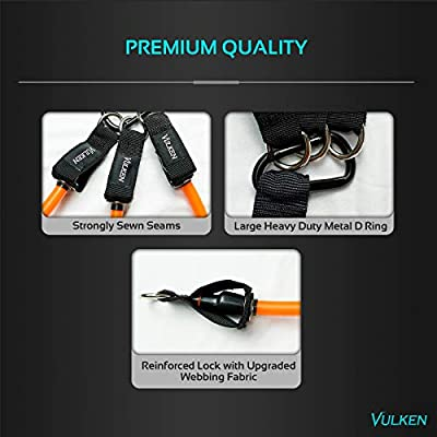 Vulken CoreSlings Resistance Bands One Pair Resistance Trainer. Multi Layered Heavy Resistance Latex Tubes for Bodyweight Training Straps