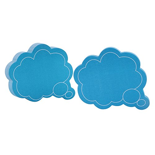 "Eagle ""Thought Cloud"" Shape Sticky Notes, 100 Sheets (Blue)"