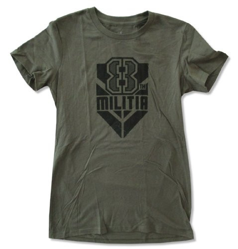 Juniors WWE Wrestling ''K8lyn Militia'' Olive Green Baby Doll T-Shirt (Large) by WWE Authentic