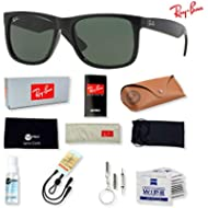 Ray-Ban RB4165 Justin Sunglasses for Men and Women with Deluxe Accessories