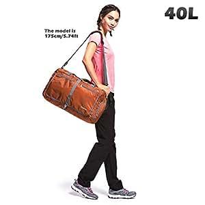 Gonex 40L Packable Travel Duffle Bag for Boarding Airline, Lightweight Gym Duffle Water Repellent & Tear Resistant Orange