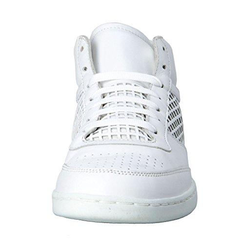 Dolce & Gabbana Mens Chaussures De Sport En Cuir Blanc Chaussures Blanc