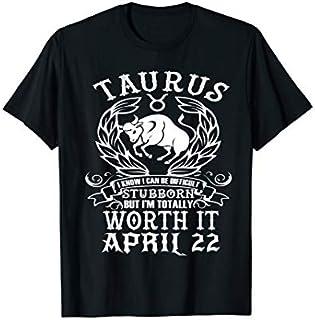 ⭐️⭐️⭐️ Taurus Zodiac April 22 Tshirt for women man Birthday Gift Need Funny Short/Long Sleeve Shirt/Hoodie