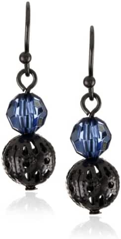 1928 Jewelry Colored Bead Ball Drop Earrings