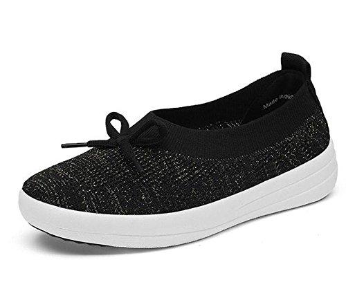 KUKI Breathable Net Schuhe flach laufenden weichen Boden Tennis Sportschuhe , 3 , US6 / EU36 / UK4 / CN36