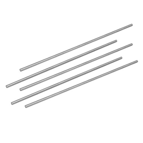 3.5 Mm Shaft - uxcell 3.5mm Dia 200mm Length HSS Round Shaft Rod Bar Lathe Tools Gray 5pcs