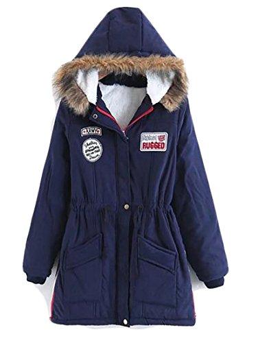 Marino Outwear Eco Di Cappuccio Womens Incappucciati Blu Cappotti Parka Caldi Con pelliccia Oggi uk OYRPww