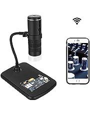 Draadloze microscoop, wifi met schermvergroting Microscoop is geschikt voor muntwaardering van de printplaat van de mobiele telefooncomputer