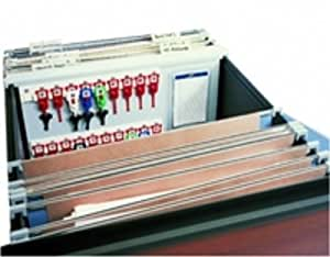 Helix W26020 - Fichero para carpetas colgantes (20 compartimentos), color gris