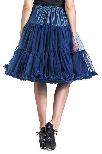 Azul Marino Falda Petticoat Banned Lifeforms q706vv