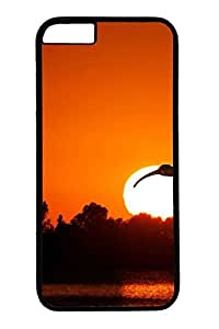 Bird Flying At Sunset Cover Case Skin for iPhone 6 Hard PC Black by lolosakes